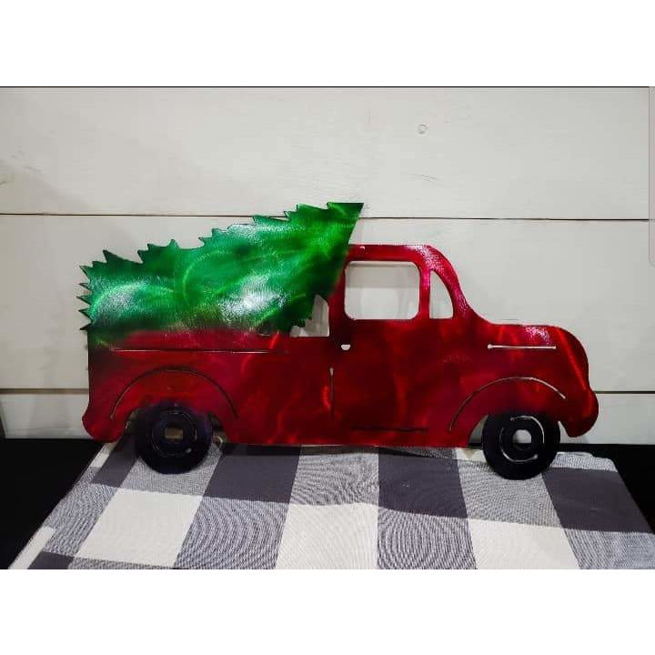 Truck with Christmas Tree - LAG Metal Worx