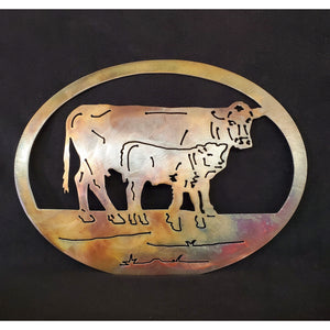 Small Cow-Calf Oval - LAG Metal Worx