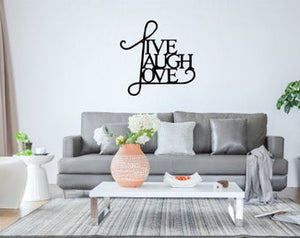 Live, Laugh, Love Metal Wall Decor - LAG Metal Worx