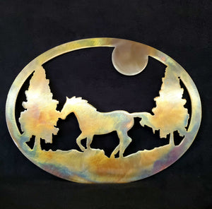 Horse-Moon-Tree Oval - LAG Metal Worx