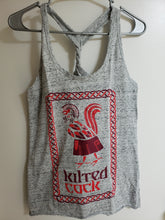 Load image into Gallery viewer, Kilted Cock Tank Top for Women (Twist-Back, Athletic Grey)