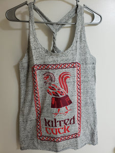 Kilted Cock Tank Top for Women (Twist-Back, Athletic Grey)
