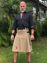 Load image into Gallery viewer, Kilted Cock Adjustable Geronimo Kilt for Men (Khaki)