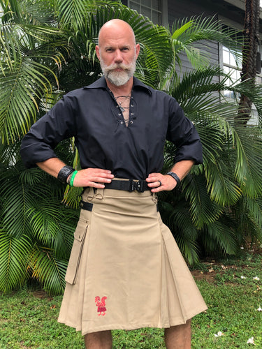 Kilted Cock Adjustable Geronimo Kilt for Men (Khaki)