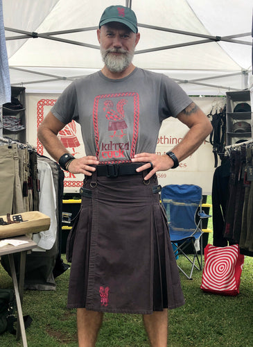 Kilted Cock Adjustable Geronimo Kilt for Men (Brown)