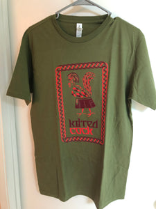 Kilted Cock T-Shirt for Men (Army Green)