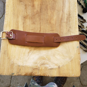 Leather Cuff for Men (Brown)