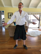Load image into Gallery viewer, Kilted Cock Danny Kilt for Men (Black Denim)