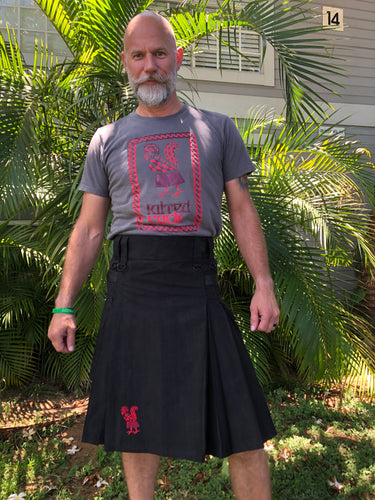 Kilted Cock T-Shirt for Men (Slate)