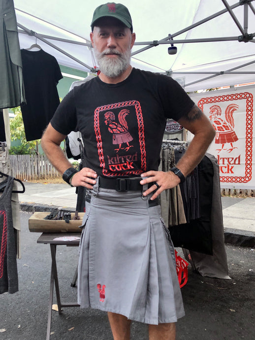 Kilted Cock Adjustable Geronimo Kilt for Men (Grey)