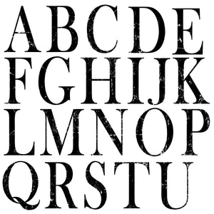 TYPESETTING ALPHABET 12×12 DECOR STAMPS™