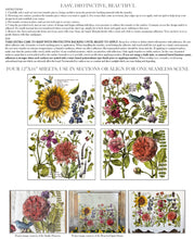 Load image into Gallery viewer, BOTANIST'S JOURNAL 12x16  4-SHEET DECOR TRANSFER PAD
