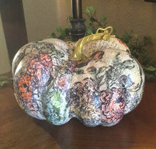Load image into Gallery viewer, A Foolproof Stamping Method for any shaped surface- Rose Toile Pumpkin