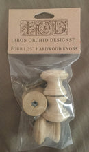 "Load image into Gallery viewer, SET OF FOUR 1.25"" HARDWOOD KNOBS"