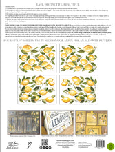 Load image into Gallery viewer, LEMON DROPS 12×16 4-SHEET PAD DECOR TRANSFER™