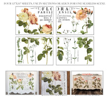 Load image into Gallery viewer, FLORA PARISIENSIS 12x16 4-SHEET DECOR TRANSFER PAD