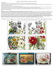 Load image into Gallery viewer, MIDNIGHT GARDEN 12x16 4-SHEET DECOR TRANSFER PAD