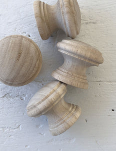"SET OF FOUR 1.5"" HARDWOOD KNOBS"