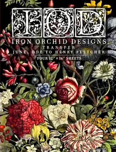 JUNE, ODE TO HENRY FLETCHER- IRON ORCHID 4-SHEET TRANSFER PAD PREORDER
