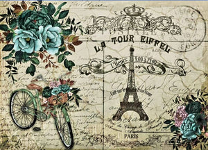 DECOPAUGE QUEEN RICE PAPER- LA TOUR EIFFEL