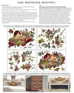 FLORAL ANTHOLOGY- IRON ORCHID 4-SHEET TRANSFER PAD PREORDER
