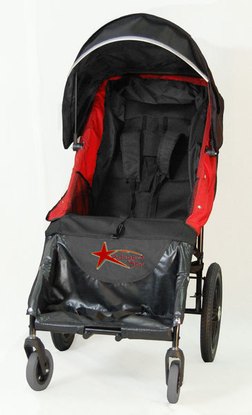 Adaptive Star Axiom LASSEN 2 Indoor/Outdoor Mobility Push Chair, Red