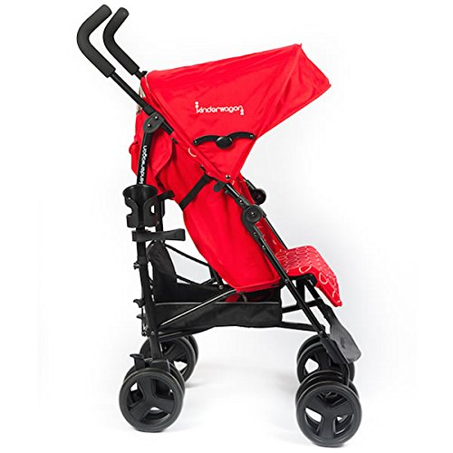 Kinderwagon Skip Single Umbrella Stroller, Red