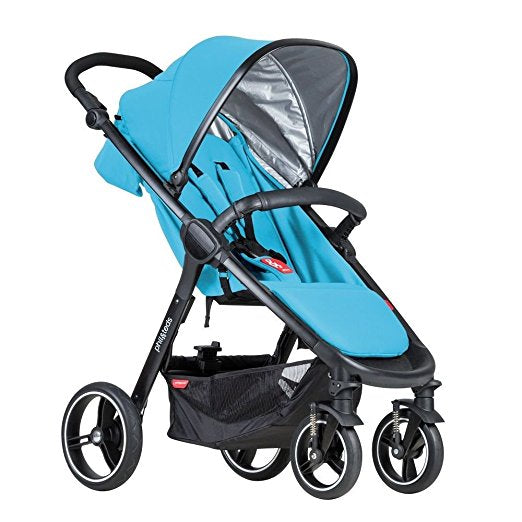 Phil & Teds Smart V3 Travel System Bundle in Cyan