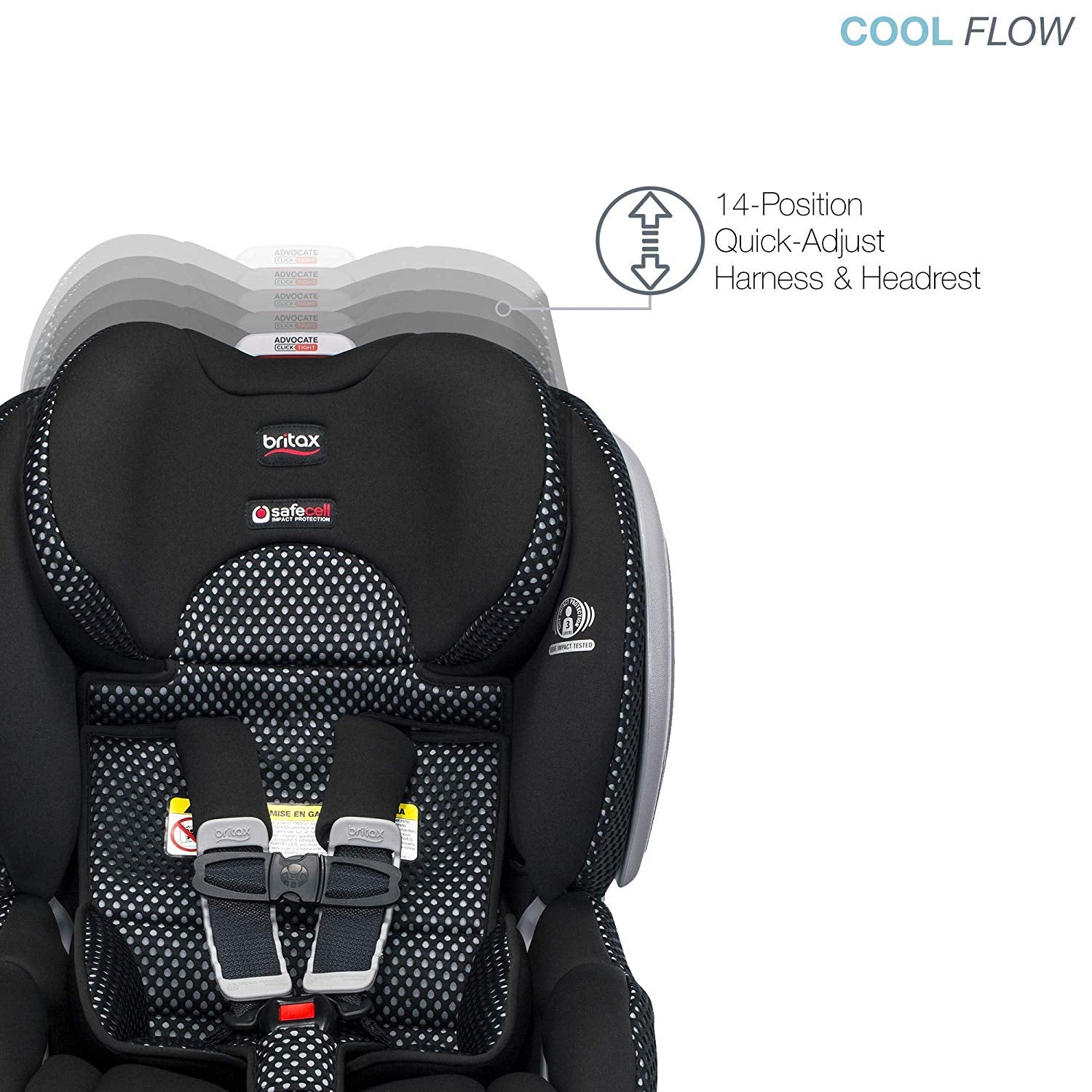 Britax Advocate ClickTight ARB Convertible Car Seat - Cool Flow Gray