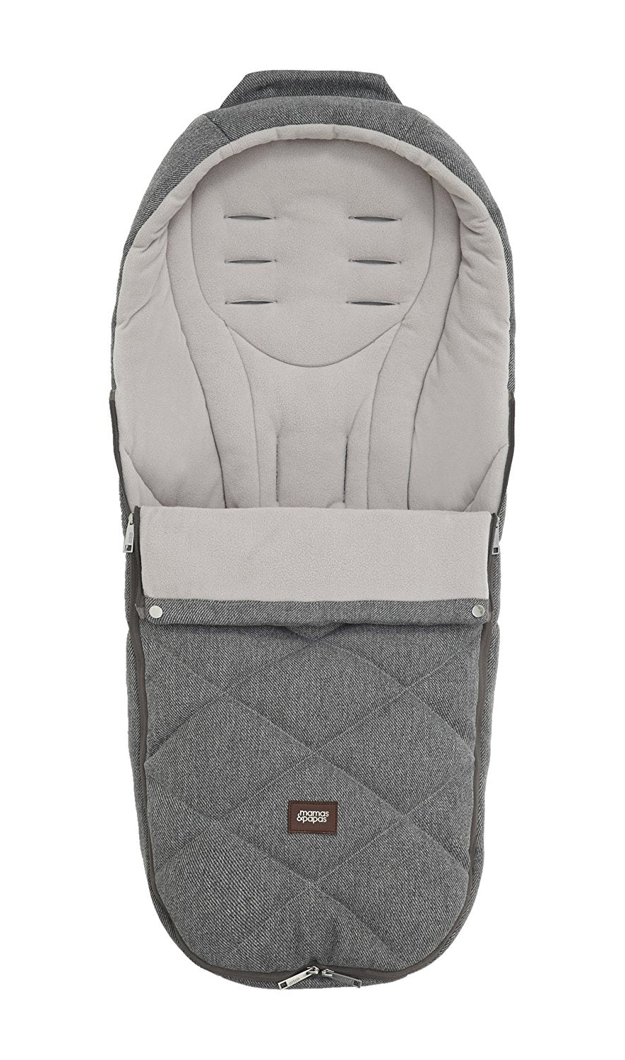 Mamas & Papas Footmuff Cold Weather Plus - Grey Twill