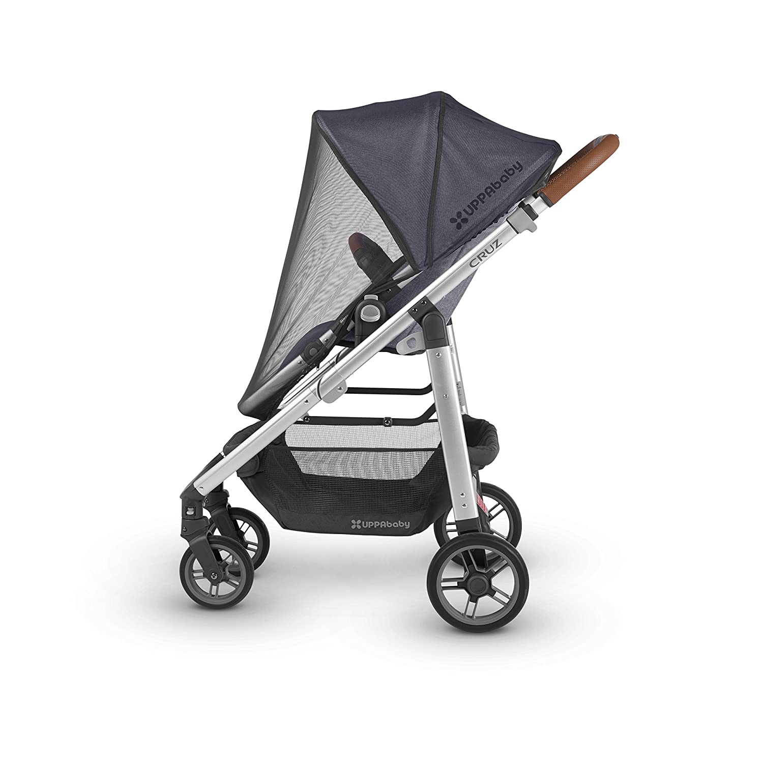 UPPAbaby 2018 Cruz Stroller - Jordan (Charcoal Mélange/Silver/Black Leather)