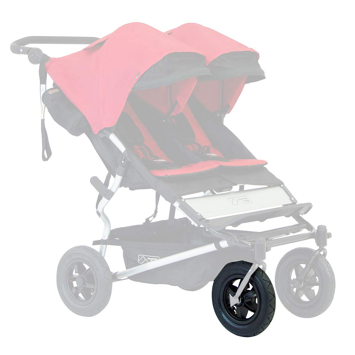 "Mountain Buggy 10"" Complete Front Wheel, Tire, + Tube for 2015 - 2017 V2.5 Duet Strollers"