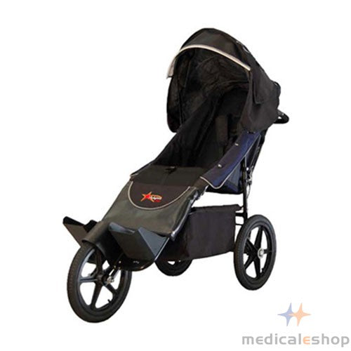 Adaptive Star Axiom ENDEAVOUR 2 Indoor/Outdoor Mobility Push Chair, Navy