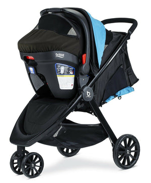 Britax B-Lively Stroller & B-Safe Ultra Travel System Cool Flow Teal