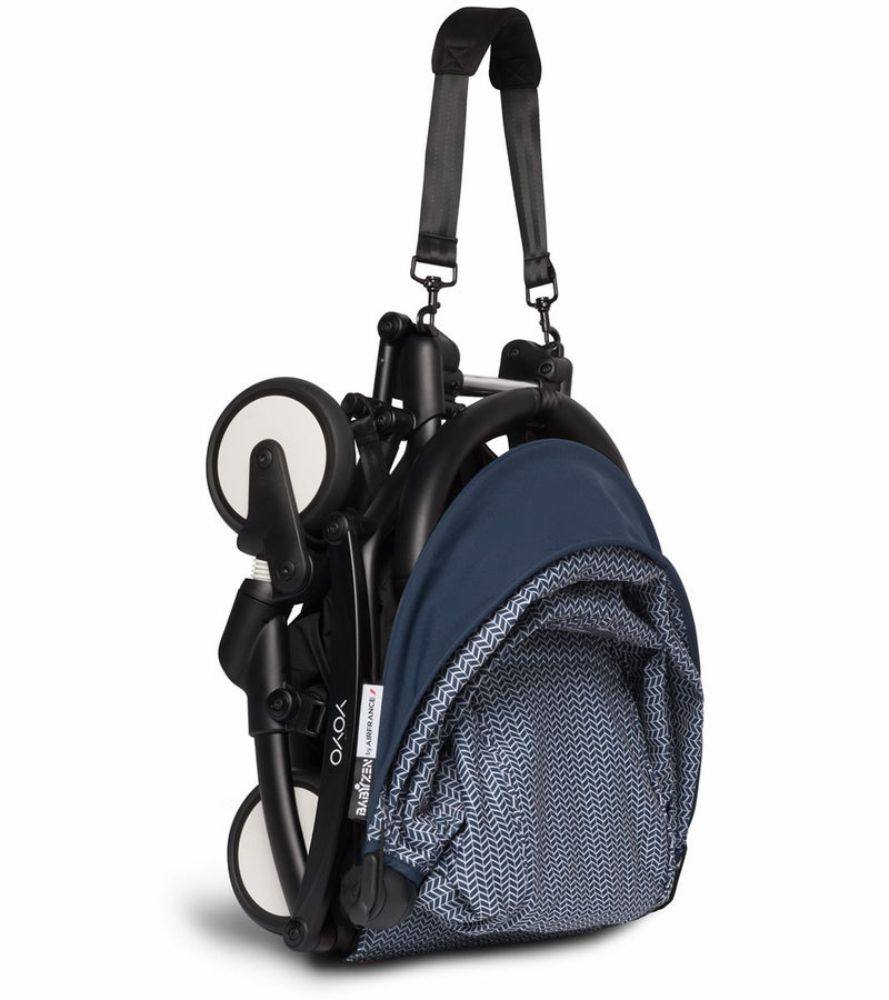 BABYZEN YOYO2 Ultra Compact 6+ Stroller - Black / Air France Blue