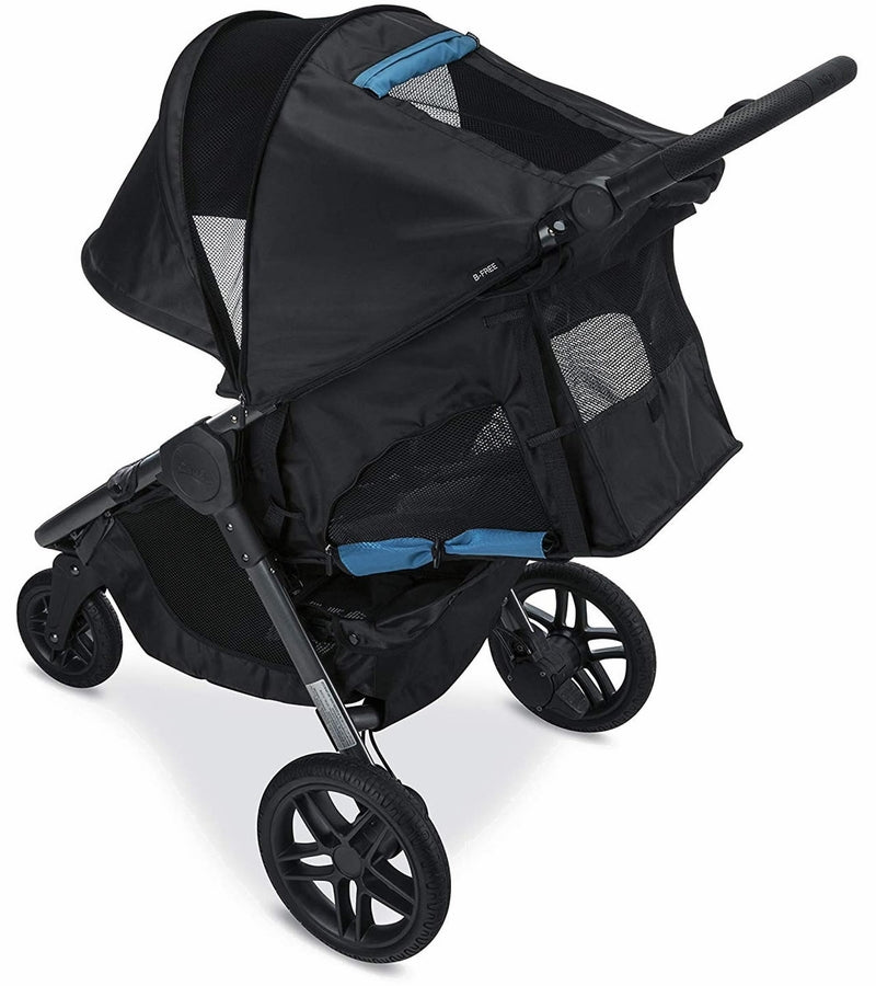 Britax 2018 B-Free 3 Single Stroller in Cool Flow Teal Fabric