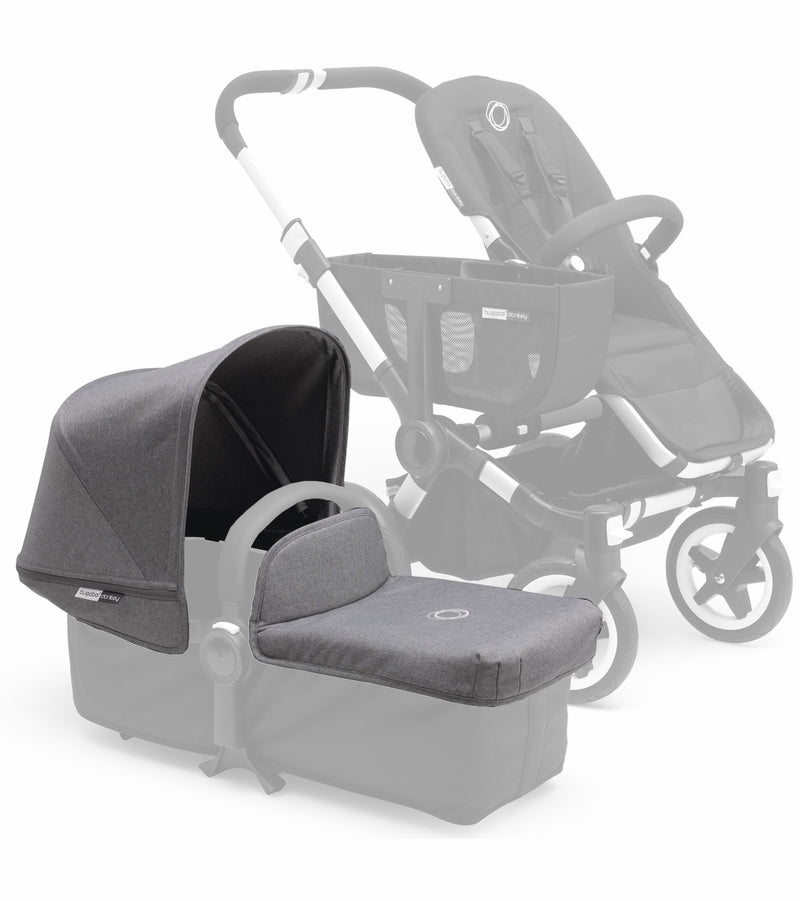 Bugaboo Donkey Extendable Tailored Fabric Set, Grey Melange