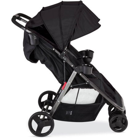 Combi Fold N Go Double Stroller w/ Adapter, Black