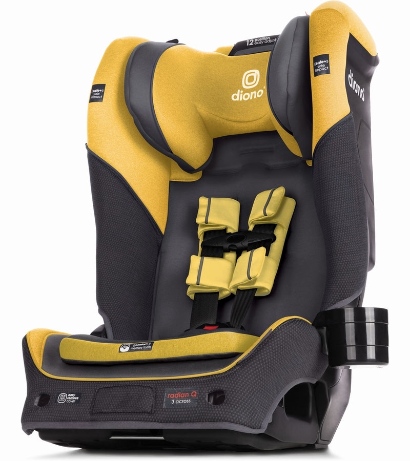 Diono Radian 3QX Ultimate 3 Across All-in-One Convertible Car Seat - Yellow Mineral