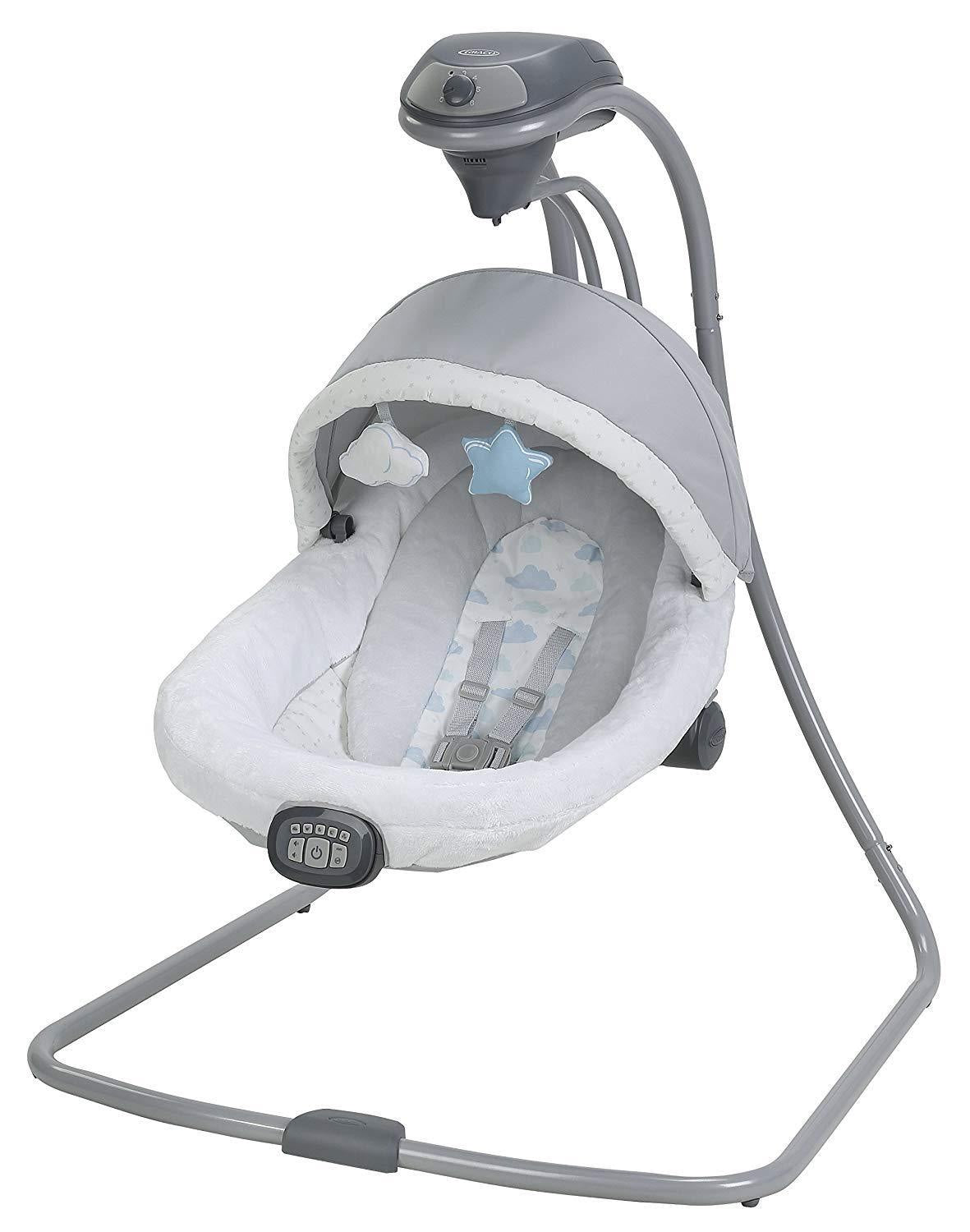 Graco Baby Oasis Swing with Soothe Surround Technology in Azure