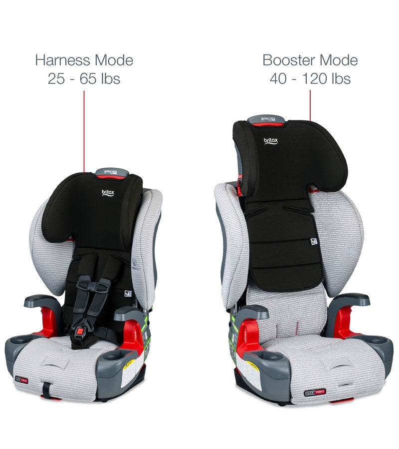 Britax Grow With You ClickTight Booster Car Seat with Clean Comfort Fabric - Indy - Brand New!