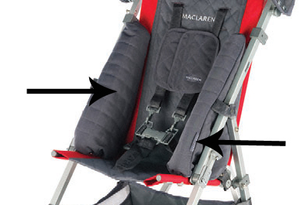 Maclaren Major Elite Lateral Supports, Charcoal