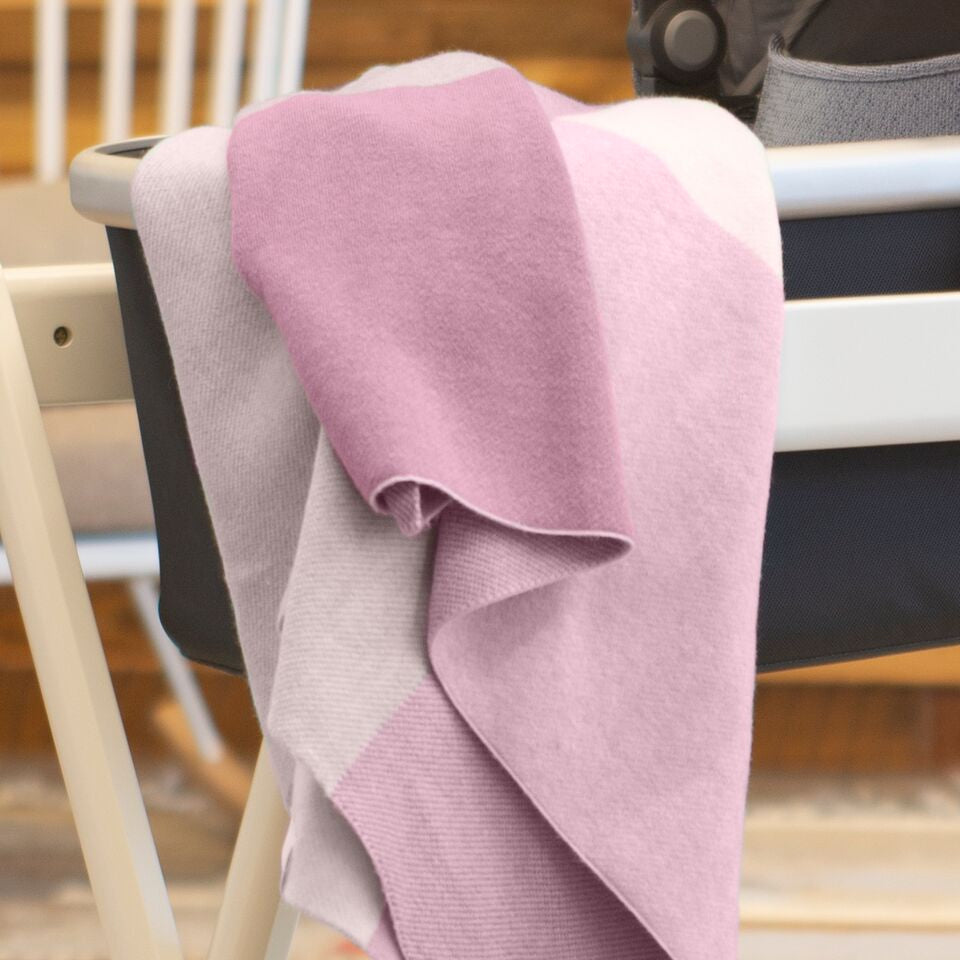 UPPAbaby 2019 Knit Blanket - Pink Multi/Color Block