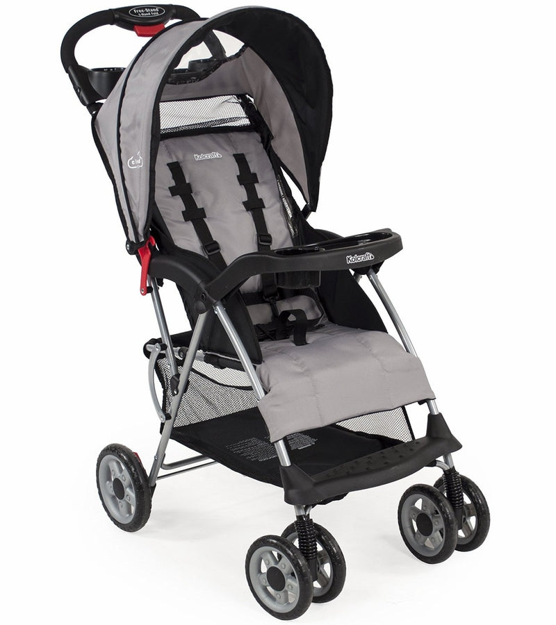 Kolcraft Cloud Plus Lightweight Stroller - Slate Black