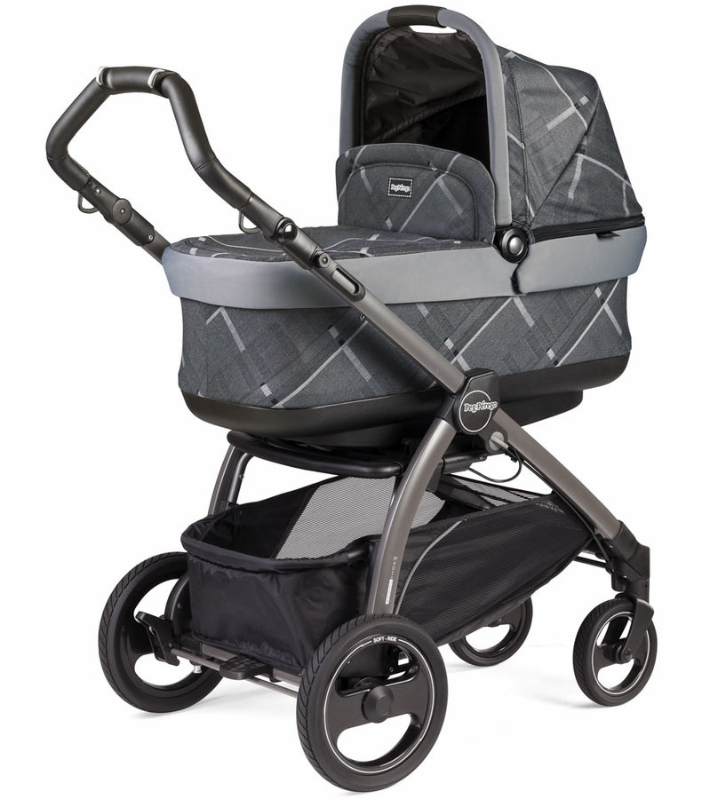 Peg Perego Book Pop Up Stroller - Portraits Grey
