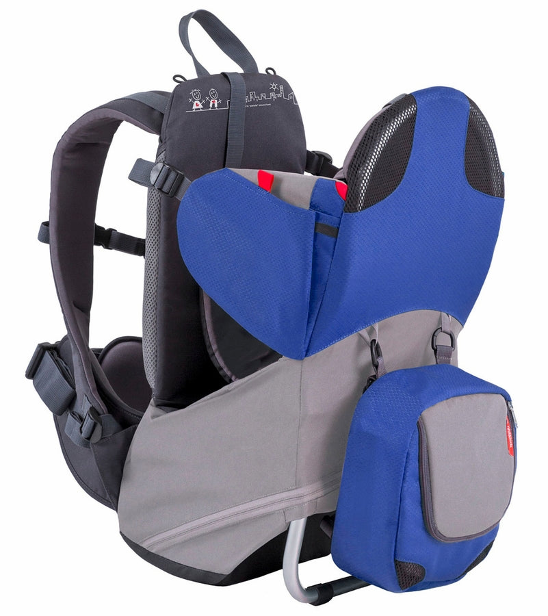 Phil & Teds Parade Backpack Baby Carrier - Blue / Grey