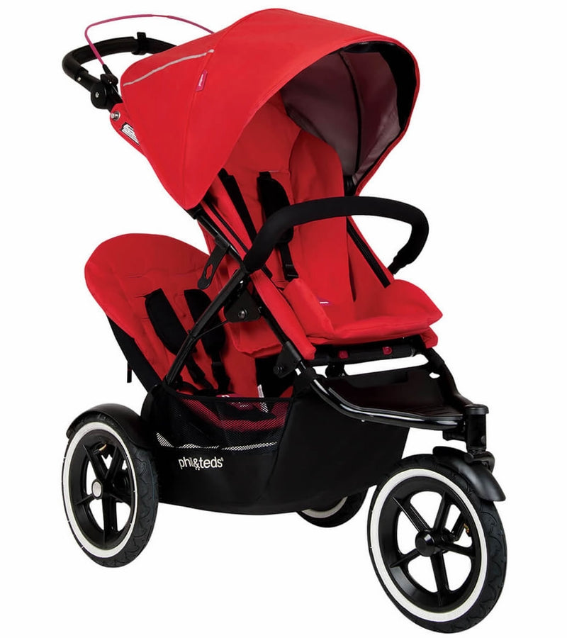 Phil & Teds Sport Double Stroller - Cherry