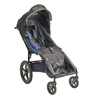 Adaptive Star Axiom LASSEN 4 Indoor/Outdoor Mobility Push Chair, Navy