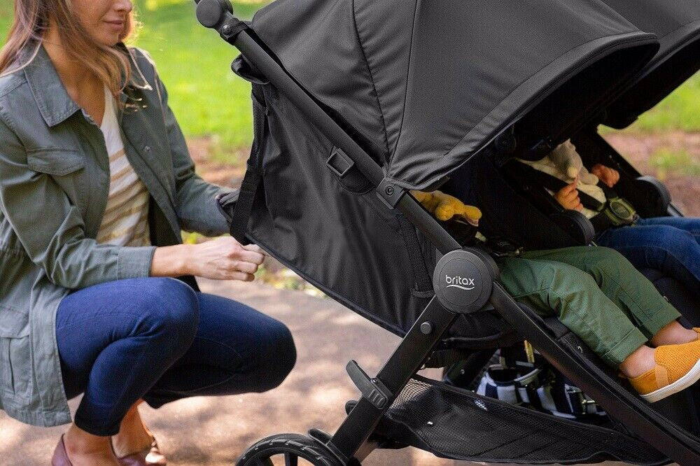 Britax 2019 B-Lively Double Stroller - Dove Grey