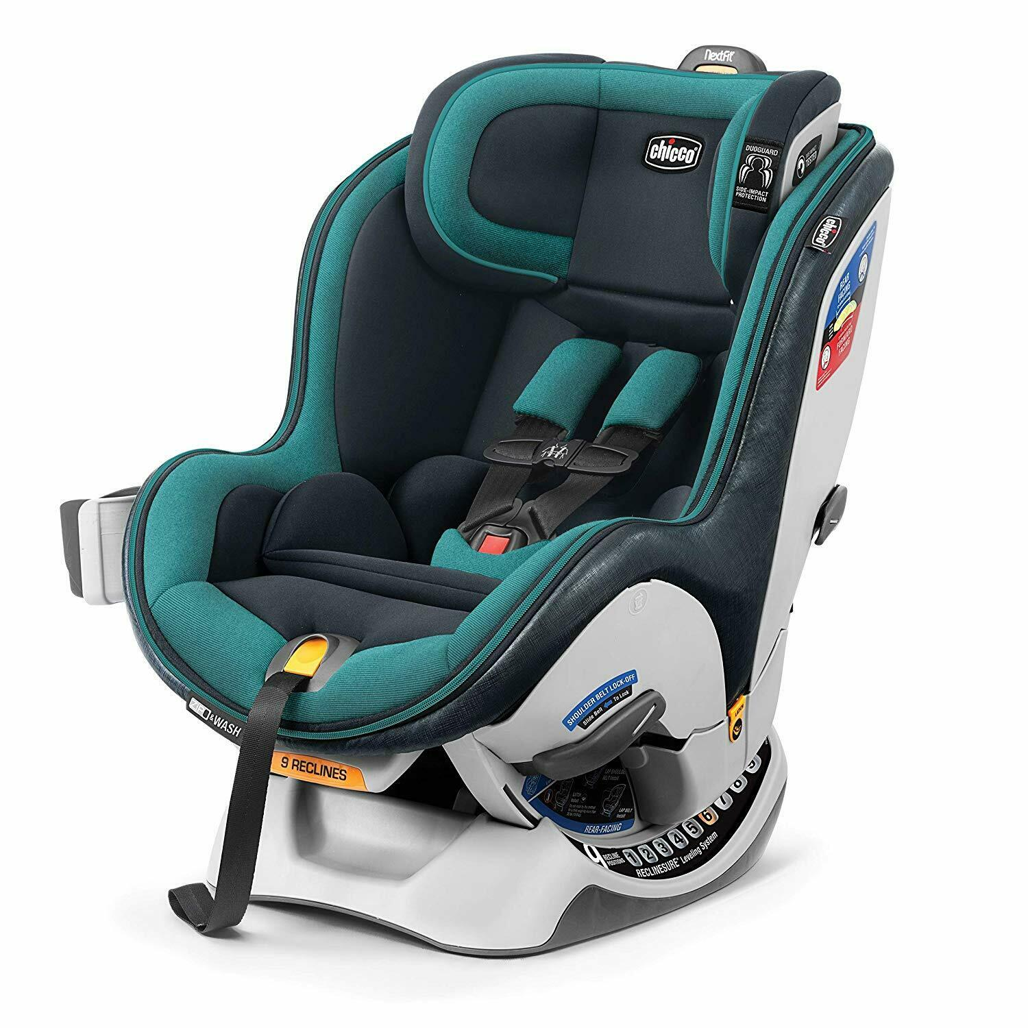 New Chicco NextFit Zip Convertible Car Seat in Juniper